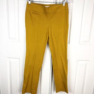 Loft Mustard Yellow Kate Pants Size 6